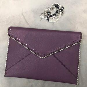 Rebecca Minkoff Leo envelope clutch purple